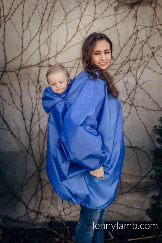 Płaszczyk przeciwdeszczowy - rozmiar S/M - Niebieski #babywearing