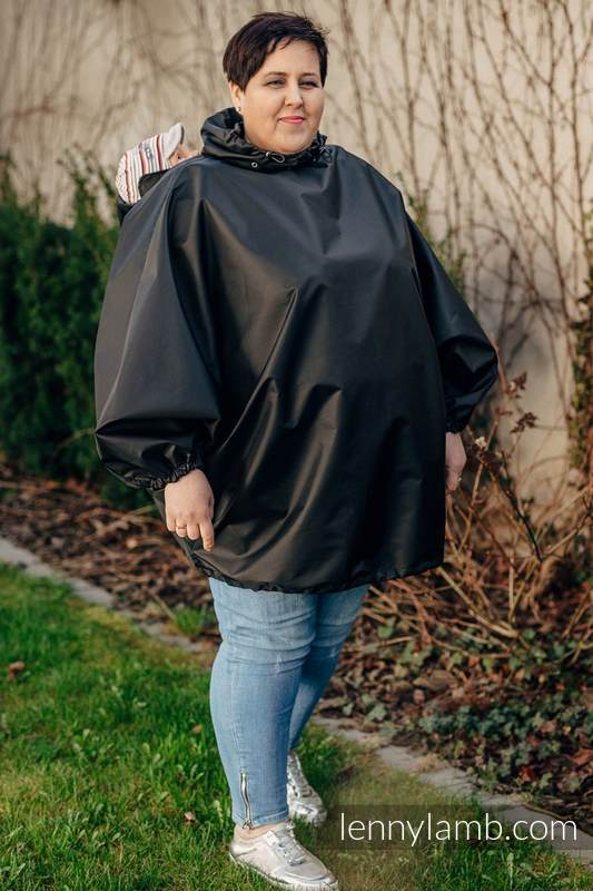 Regenmantel für Babytragen - Größe L/XL - Schwarz (grad B) #babywearing