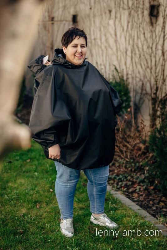 Płaszczyk przeciwdeszczowy - rozmiar S/M - Czarny #babywearing