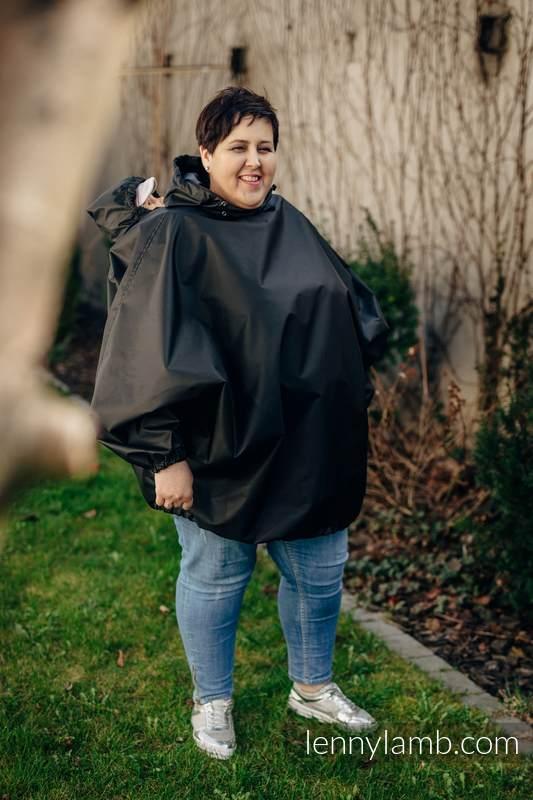 Babywearing raincoat - talla 2XL/3XL - Negro (grado B) #babywearing