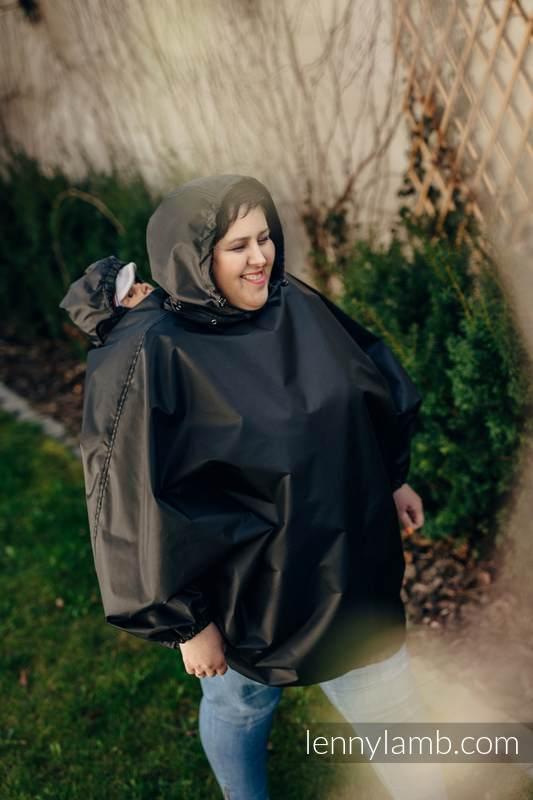 Babywearing Raincoat - size  S/M - Black #babywearing