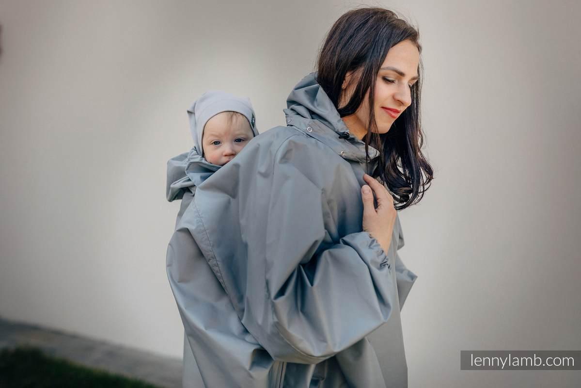 Babywearing Raincoat - size 2XL/3XL - Grey (grade B) #babywearing