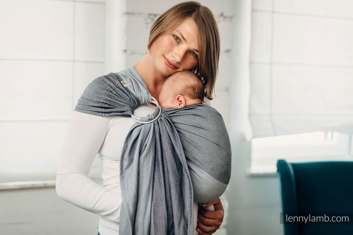 Bandolera de anillas Línea Básica - HOWLITE - 100% algodón,  tejido de sarga cruzada - con plegado simple - standard 1.8m #babywearing