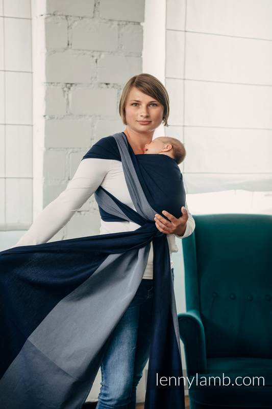 Mein Erstes Tragetuch - AZURITE, Kreuzköper-Bindung (100% Baumwolle) - Größe S #babywearing
