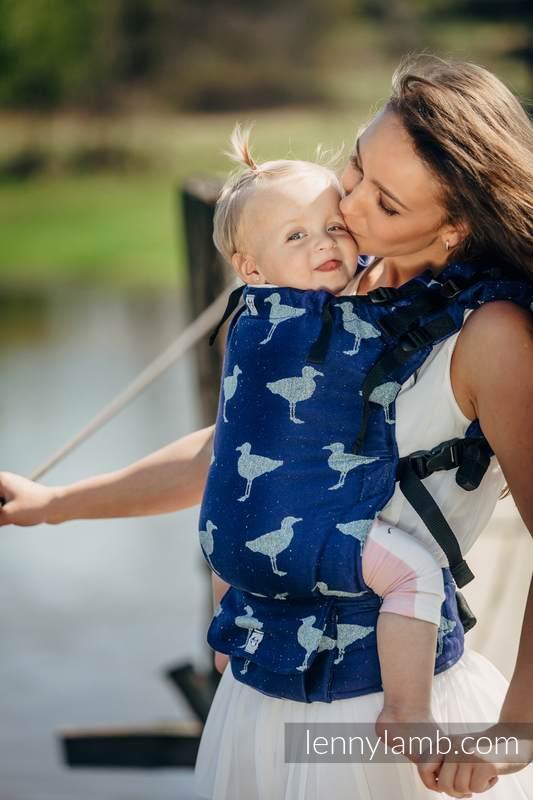 LennyUp Carrier, Standard Size, jacquard weave, 65% cotton 35% silk - LARINA #babywearing