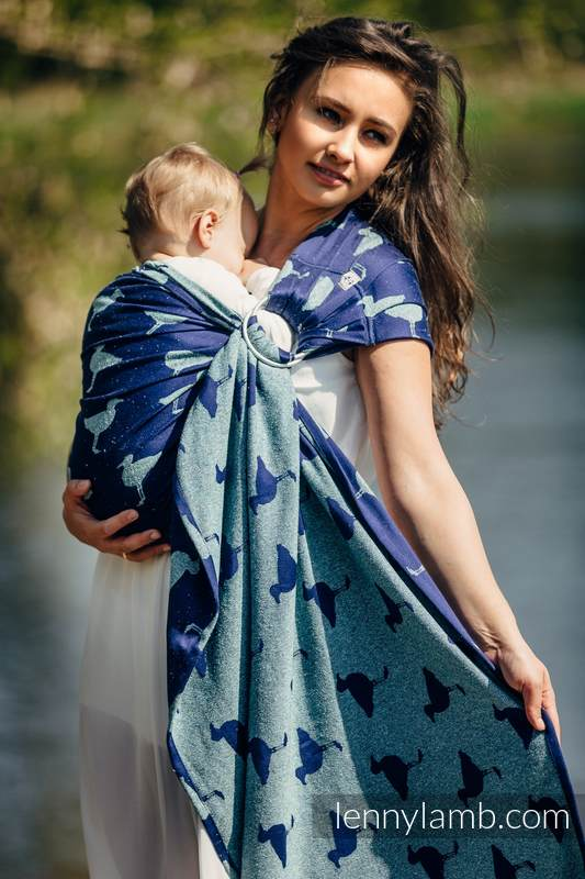 Ringsling, Jacquard Weave (65% cotton 35% silk) - LARINA - standard 1.8m #babywearing