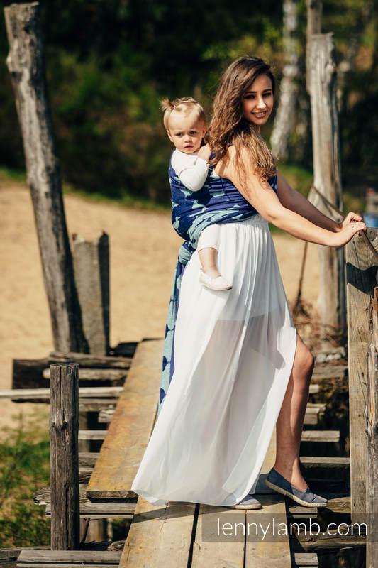 Baby Wrap, Jacquard Weave (65% cotton, 35% silk) - LARINA - size XS #babywearing