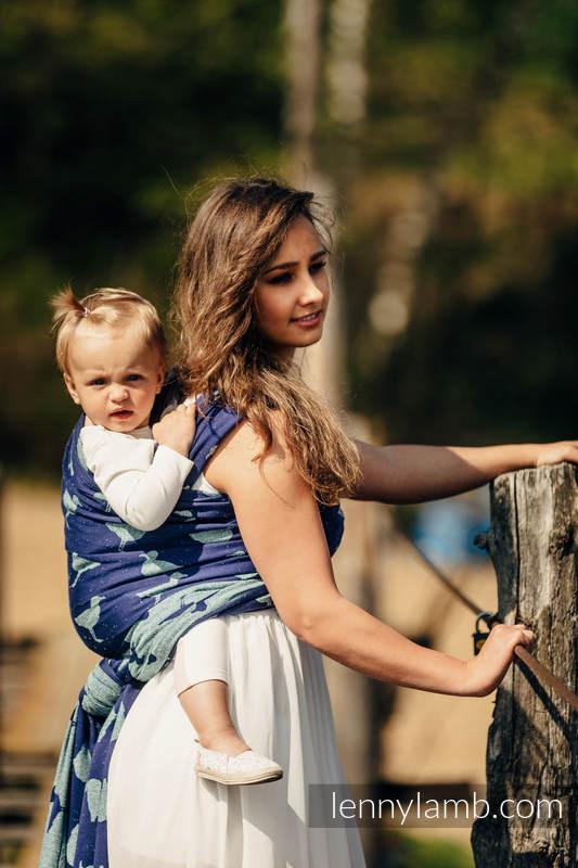 Baby Wrap, Jacquard Weave (65% cotton, 35% silk) - LARINA - size XL #babywearing