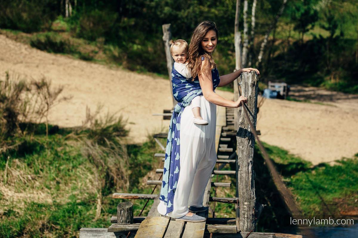 Baby Wrap, Jacquard Weave (65% cotton, 35% silk) - LARINA - size M #babywearing