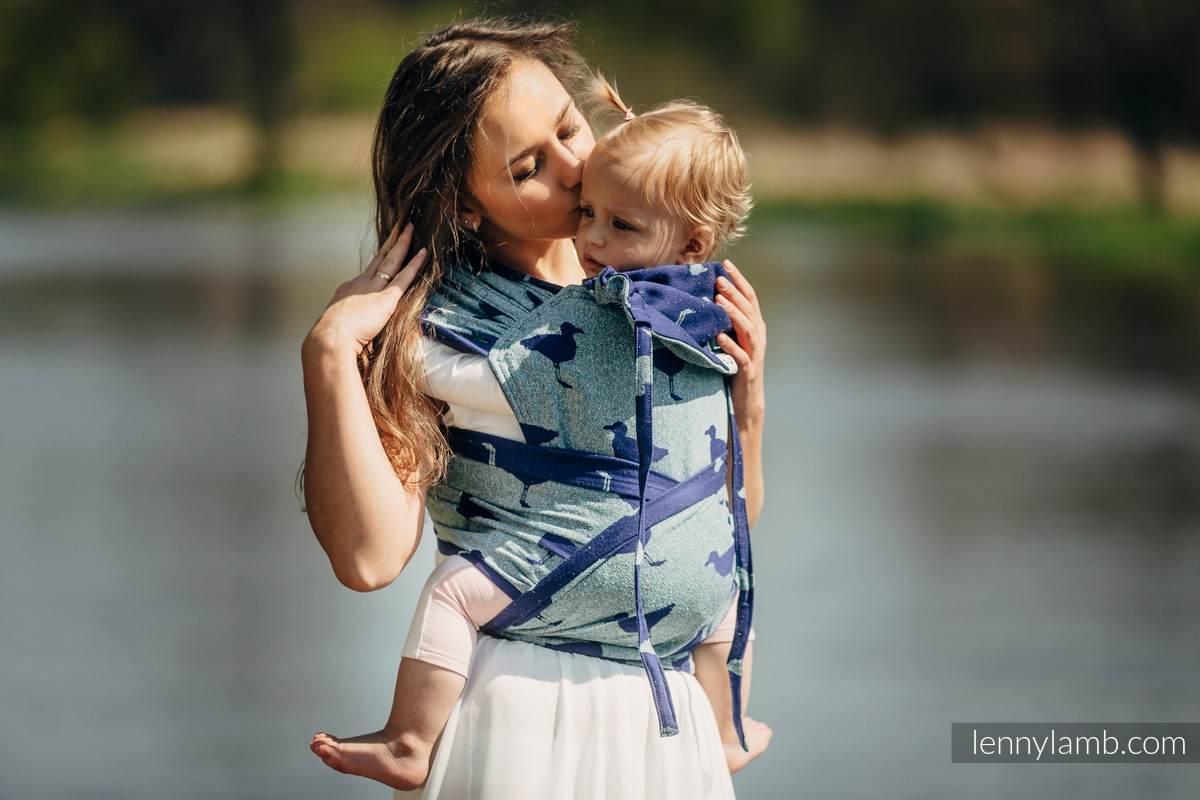WRAP-TAI carrier Mini with hood - Jacquard twill - 65% cotton 35% silk - LARINA #babywearing