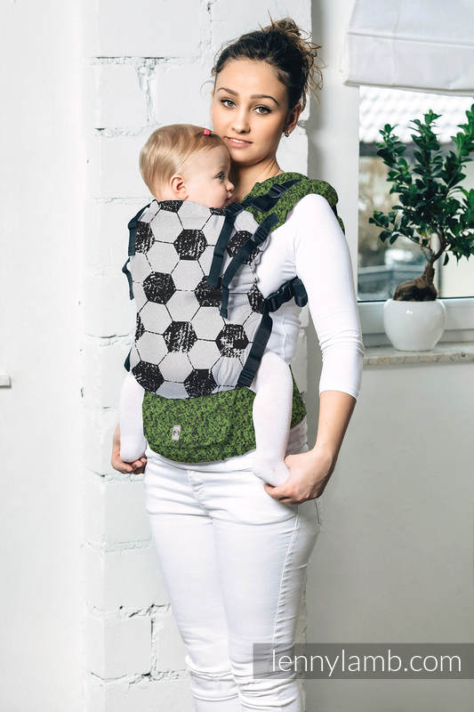 LennyUp Carrier, Standard Size, jacquard weave 100% cotton - FAIR PLAY ON THE PITCH #babywearing