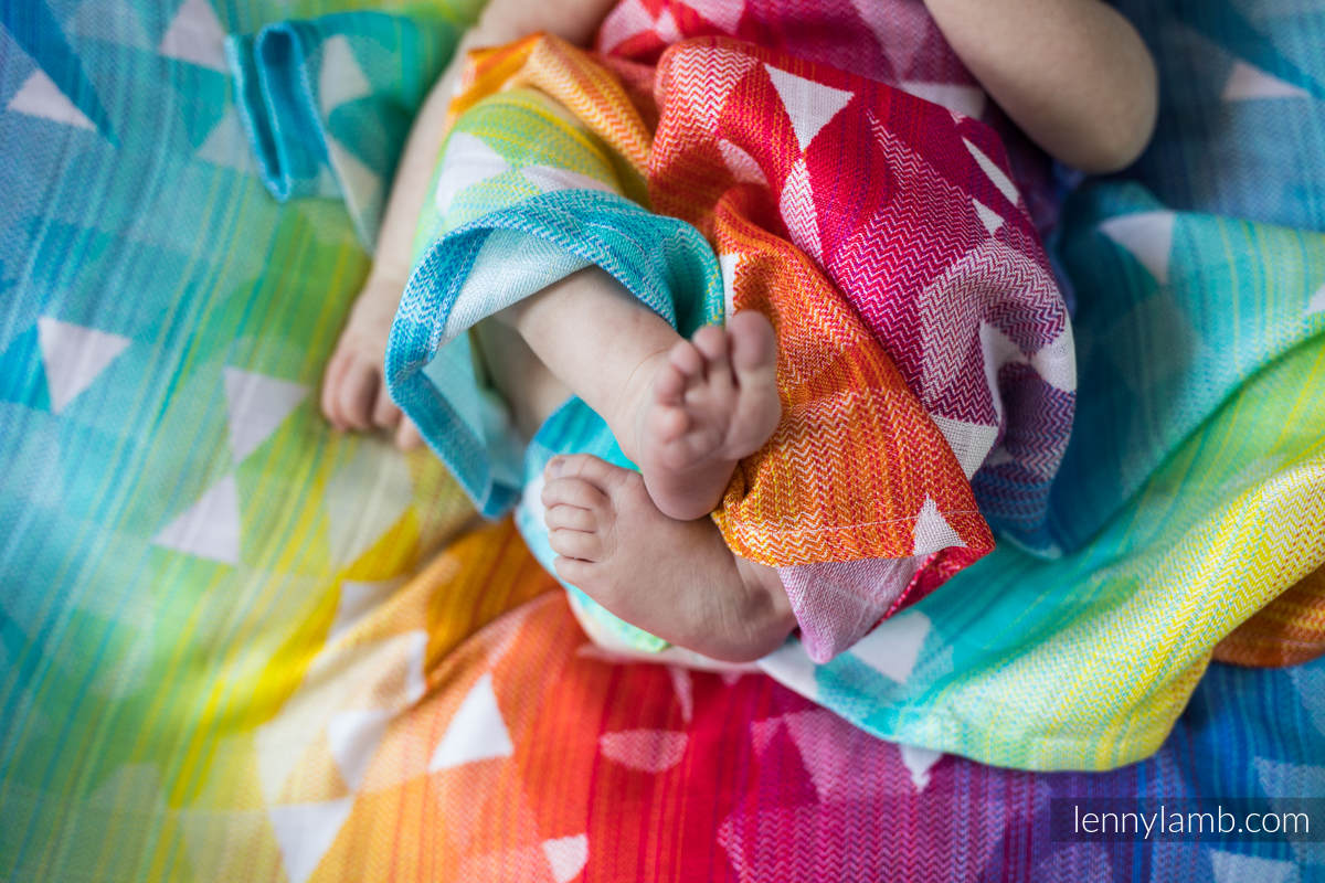 Swaddle Wrap - SWALLOWS RAINBOW LIGHT  #babywearing
