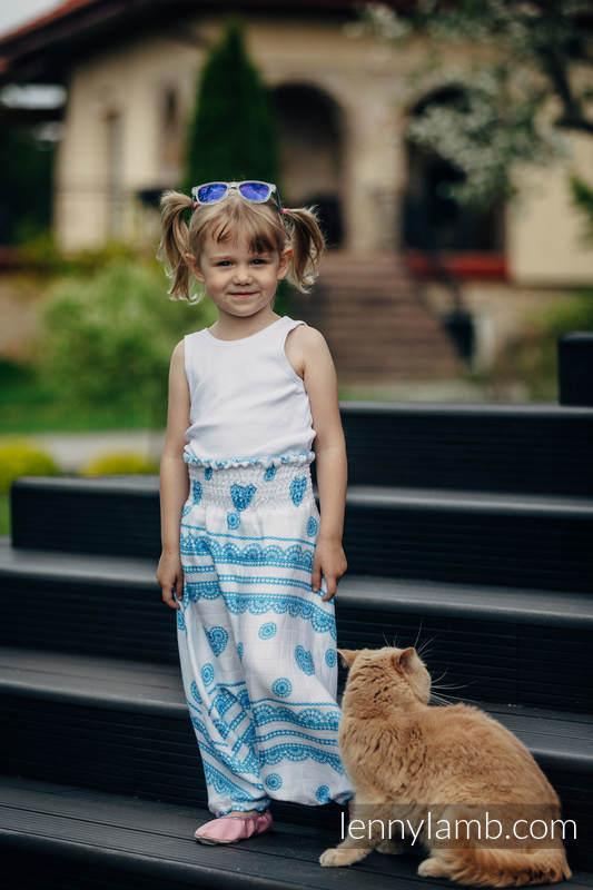 LennyAladdin bamboo for kids - size 110 - ICED LACE TURQUOISE & WHITE #babywearing
