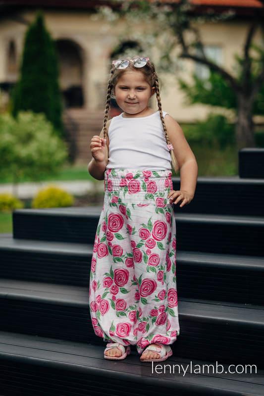 LennyAladdin bambusowe dla dzieci - rozmiar 110 - KWIAT RÓŻY #babywearing