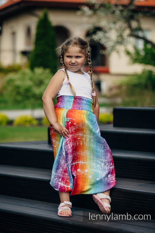 LennyAladdin bamboo for kids - size 116 - SYMPHONY RAINBOW LIGHT #babywearing