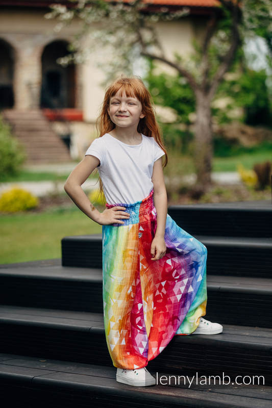 LennyAladdin Bambú para niños - talla 116 - SWALLOWS RAINBOW LIGHT #babywearing