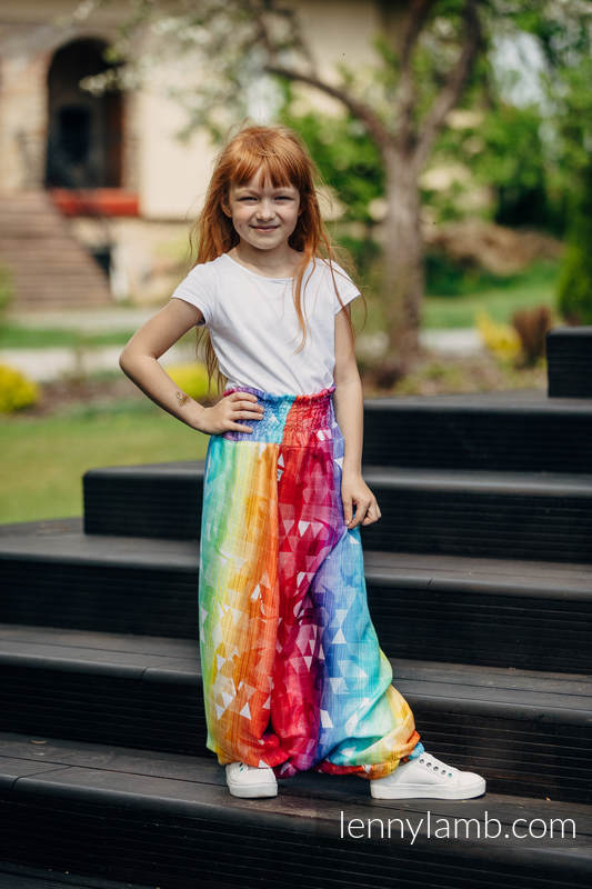 LennyAladdin bamboo for kids - size 140 - SWALLOWS RAINBOW LIGHT #babywearing