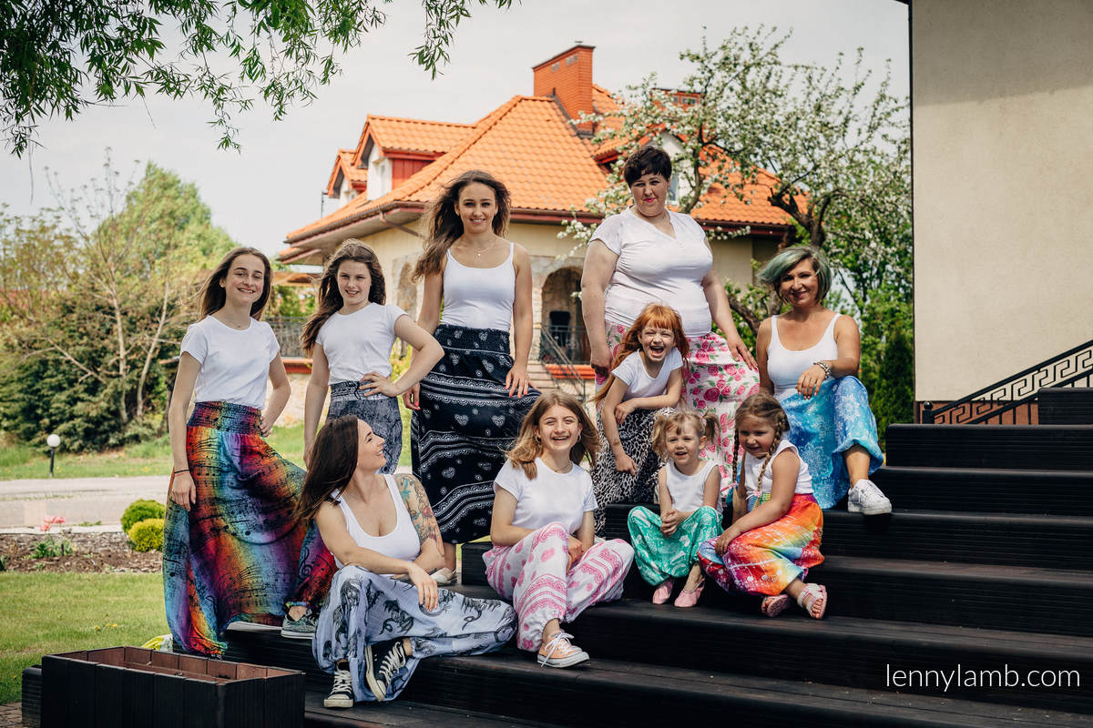 LennyAladdin Bambus für Kinder - Größe 122 - SYMPHONY RAINBOW DARK #babywearing