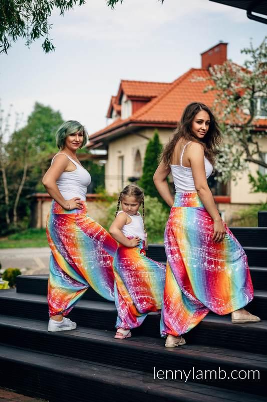 LennyAladdin bambusowe  - rozmiar PLUS SIZE -  SYMFONIA TĘCZA LIGHT #babywearing