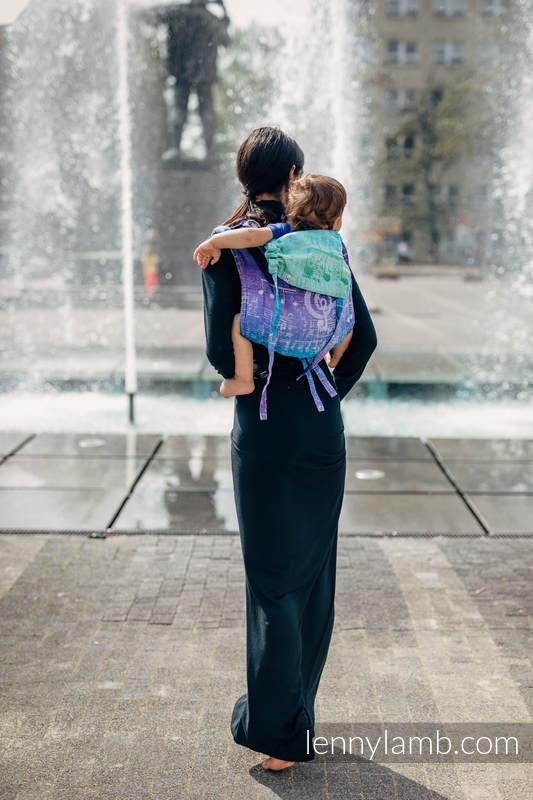 Lenny Buckle Onbuhimo Tragehilfe, Größe Toddler, Jacquardwebung (65% Baumwolle, 35% Leinen) - SYMPHONY PURE JOY  #babywearing