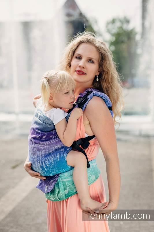 LennyUp Carrier, Standard Size, jacquard weave (65% cotton, 35% linen) - SYMPHONY PURE JOY #babywearing