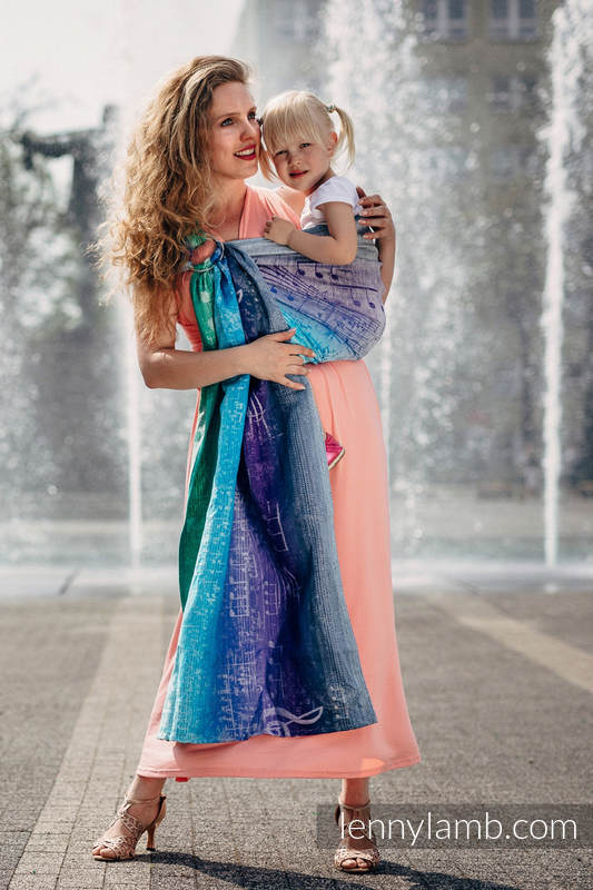 Ringsling, Jacquard Weave (65% cotton, 35% linen) - SYMPHONY PURE JOY #babywearing