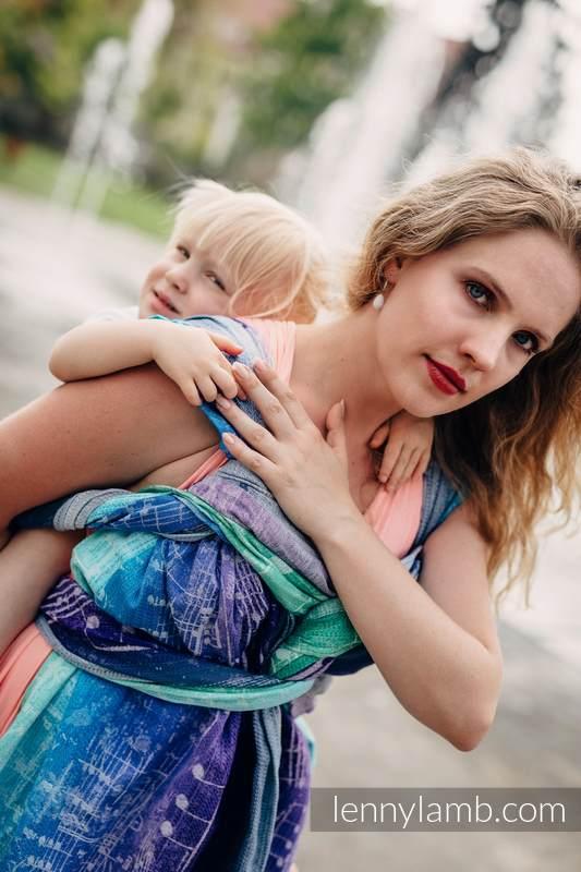 Baby Wrap, Jacquard Weave (65% cotton, 35% linen) -  SYMPHONY PURE JOY - size XL (grade B) #babywearing