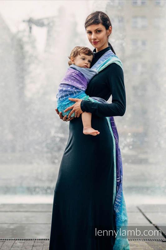 Baby Wrap, Jacquard Weave (65% cotton, 35% linen) - SYMPHONY PURE JOY - size XS #babywearing