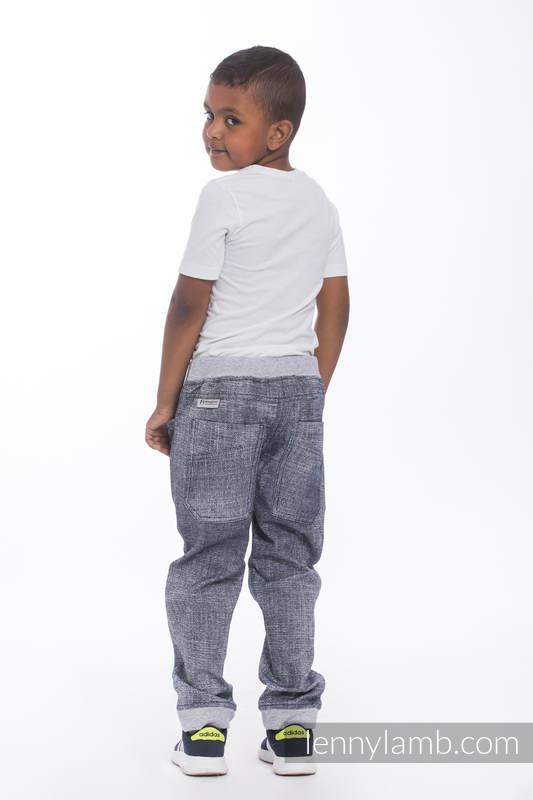 LennyJogger - Größe 110 - Denim Blue mit Grau #babywearing