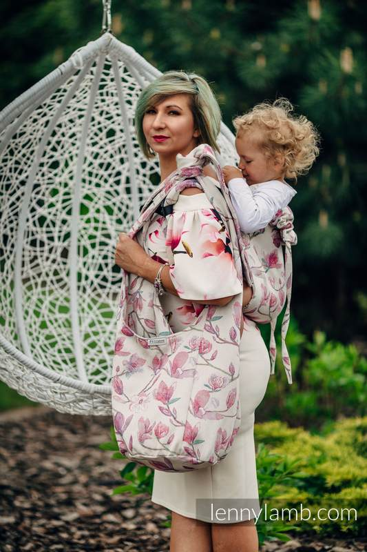 Hobo Bag made of woven fabric, 100% cotton - MAGNOLIA #babywearing