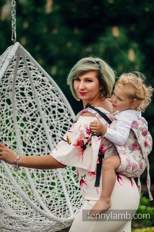 Nosidło Klamrowe ONBUHIMO z tkaniny żakardowej (100% bawełna), rozmiar Standard - MAGNOLIA #babywearing