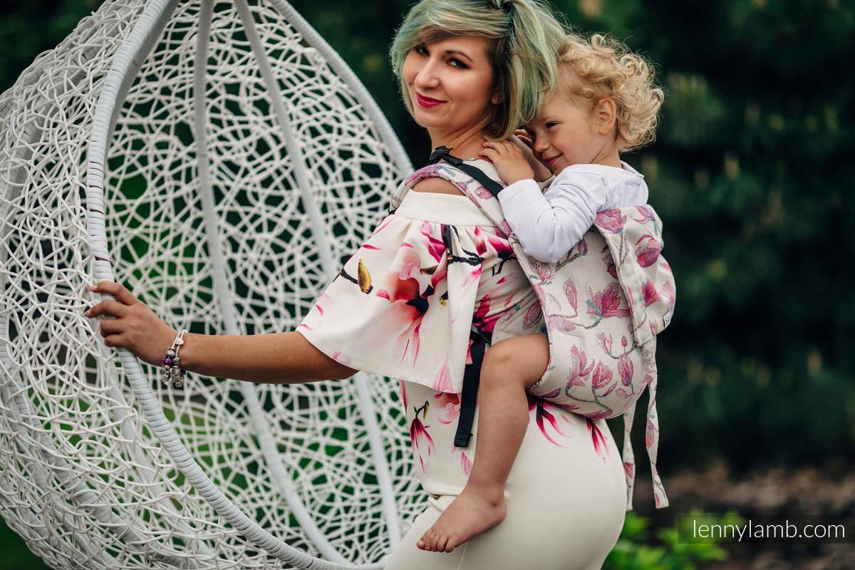 Nosidło Klamrowe ONBUHIMO z tkaniny żakardowej (100% bawełna), rozmiar Toddler - MAGNOLIA #babywearing