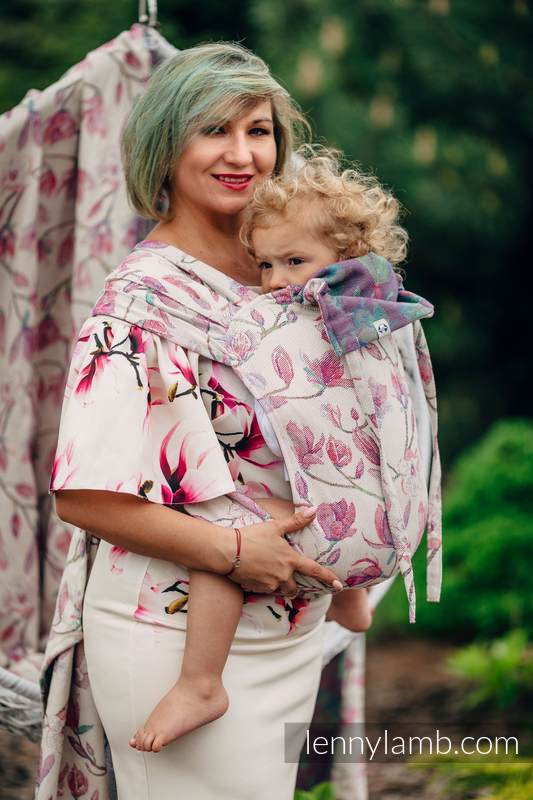 WRAP-TAI carrier Mini with hood, jacquard weave, 100% cotton - MAGNOLIA #babywearing