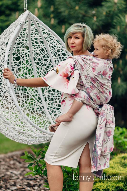 Żakardowa chusta do noszenia dzieci, 100% bawełna - MAGNOLIA - rozmiar XL #babywearing