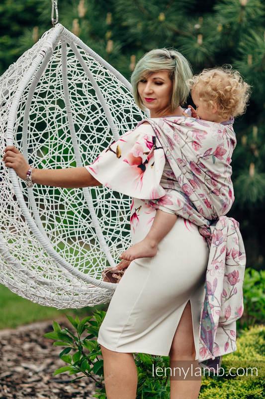 Żakardowa chusta do noszenia dzieci, 100% bawełna - MAGNOLIA - rozmiar M #babywearing