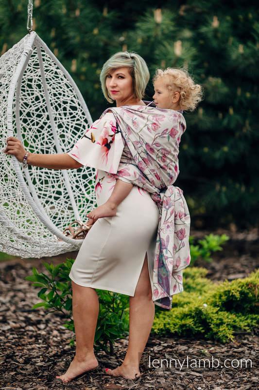 Żakardowa chusta do noszenia dzieci, 100% bawełna - MAGNOLIA - rozmiar S #babywearing