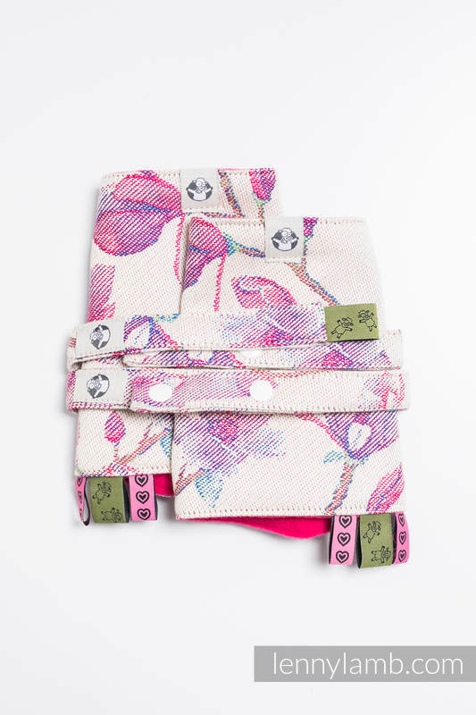 Drool Pads & Reach Straps Set, (100% cotton) - MAGNOLIA #babywearing