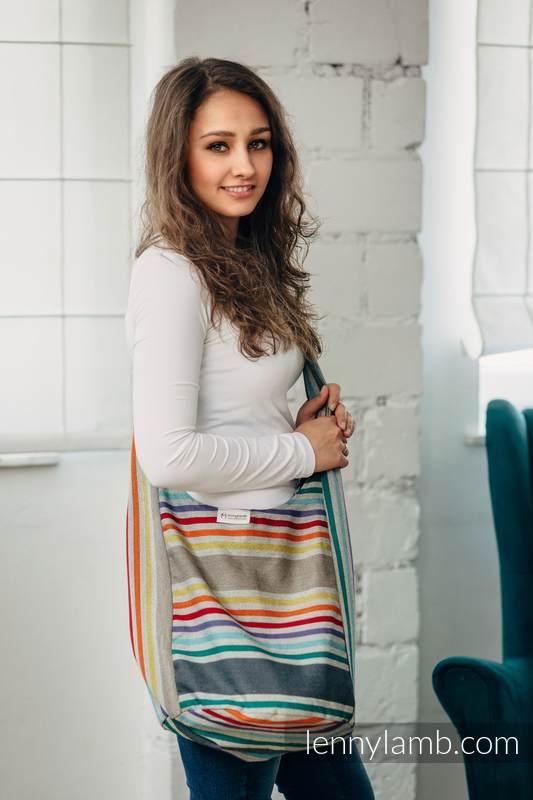 Bolso Hobo hecho de tejido de fular, 100% algodón - OASIS (grado B) #babywearing
