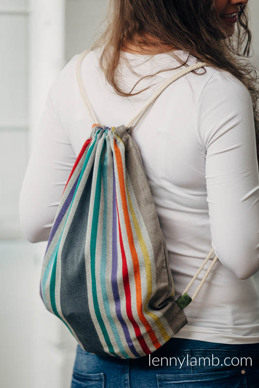 Sackpack made of wrap fabric (100% cotton) -  OASIS - standard size 32cmx43cm #babywearing