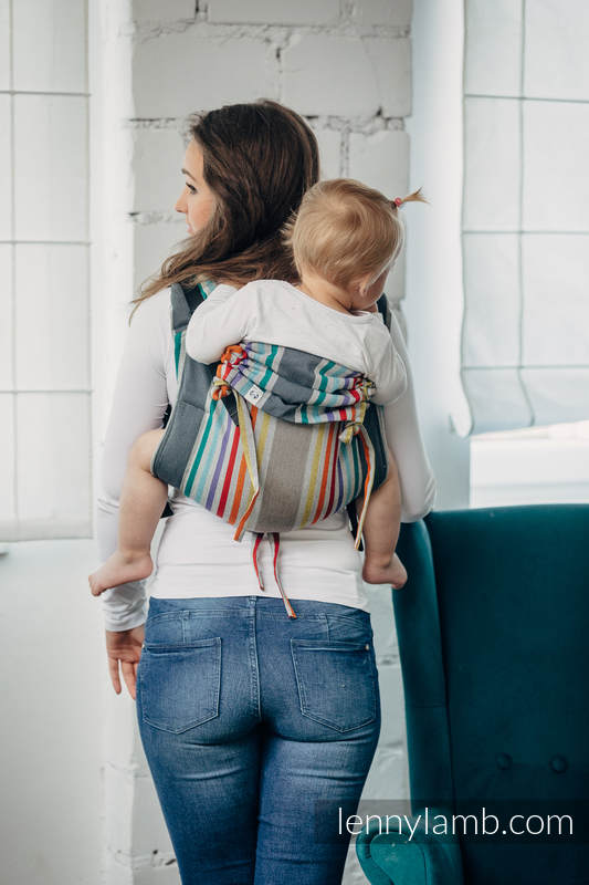 Lenny Buckle Onbuhimo baby carrier, standard size, broken-twill weave (100% cotton) - OASIS #babywearing