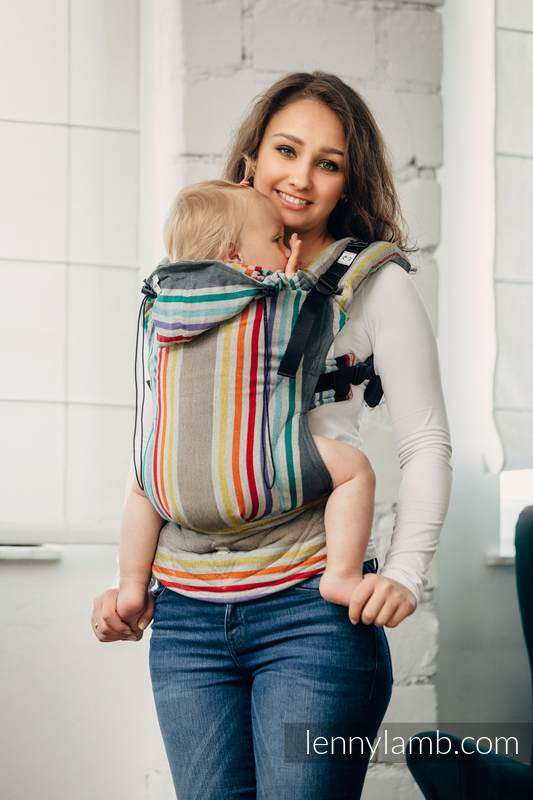 Nosidełko Ergonomiczne z tkaniny skośno krzyżowej, 100% bawełna, Baby Size -OAZA - Druga Generacja #babywearing