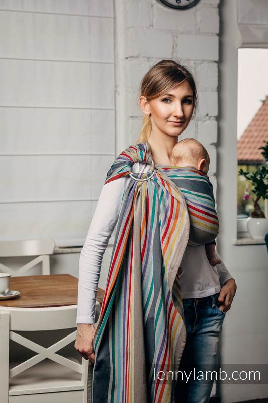 Ringsling, Broken twill Weave (100% cotton), with gathered shoulder - OASIS - standard 1.8m #babywearing