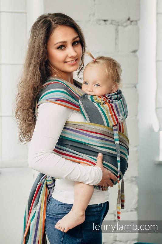 WRAP-TAI carrier Mini, broken-twill weave - 100% cotton - with hood - OASIS #babywearing