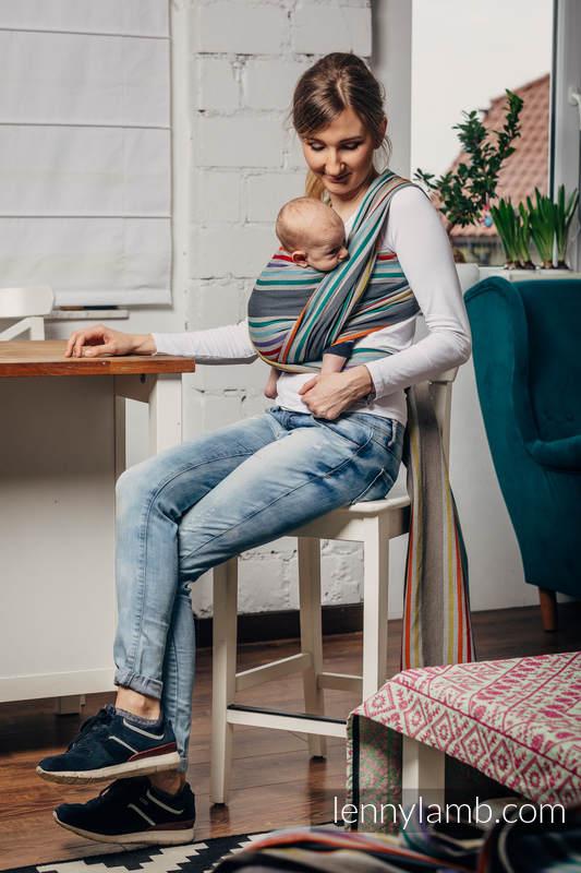 Fular, sarga cruzada, 100% Algodón - OASIS - talla XL #babywearing