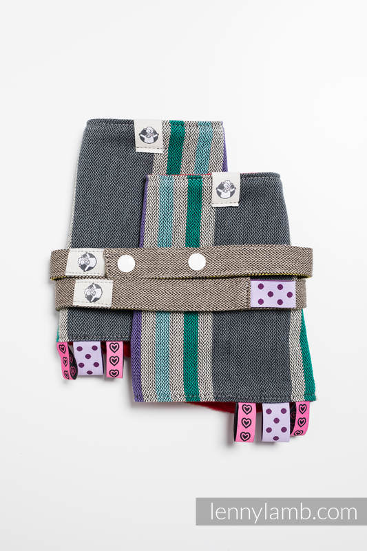 Drool Pads & Reach Straps Set, (60% cotton, 40% polyester) - OASIS #babywearing