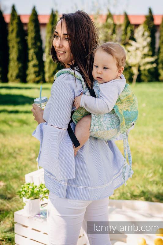 Lenny Buckle Onbuhimo baby carrier, toddler size, jacquard weave (100% cotton) - FRESH LEMON  #babywearing