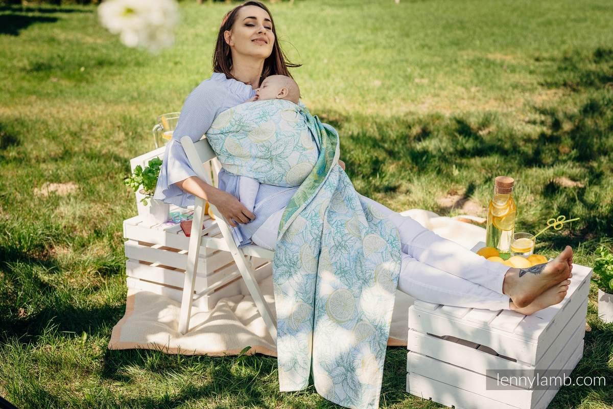 RingSling, Jacquardwebung (100% Baumwolle) - FRESH LEMON - standard 1.8m #babywearing