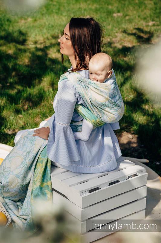 Żakardowa chusta do noszenia dzieci, 100% bawełna - FRESH LEMON - rozmiar L  #babywearing