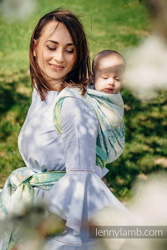 Żakardowa chusta do noszenia dzieci, 100% bawełna - FRESH LEMON - rozmiar XL  #babywearing