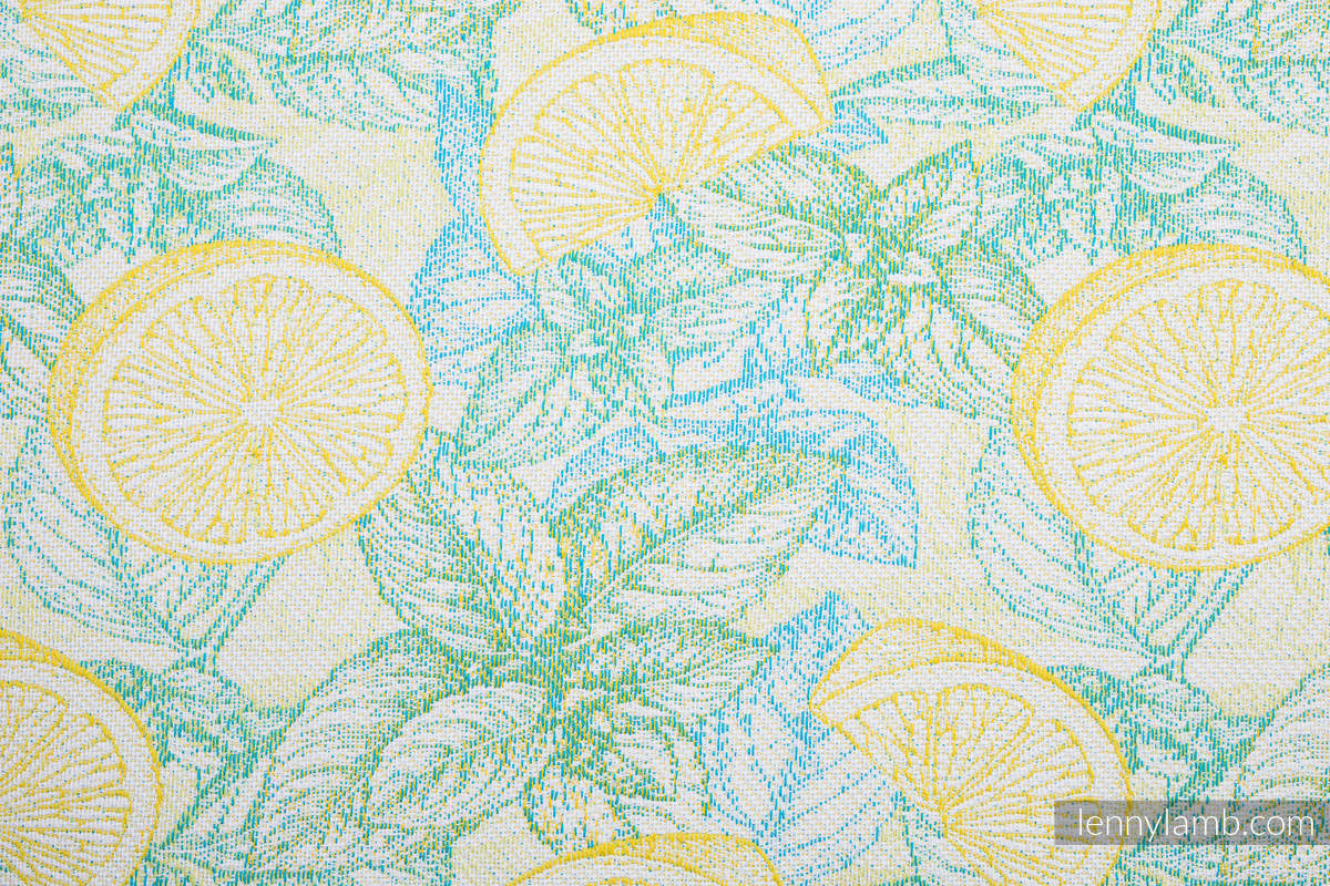 Baby Wrap, Jacquard Weave (100% cotton) - FRESH LEMON - size M #babywearing